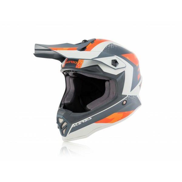 Casti MX-Enduro Copii Acerbis Casca Moto Mx Copii Impact Steel Orange/Gray 2020