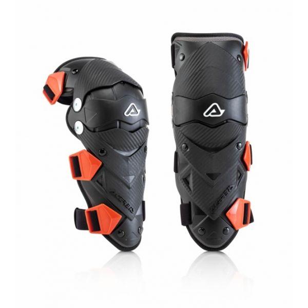 Protectii MX-Enduro Copii Acerbis Genunchiere Moto MX Copii Impact Black/Red 2020