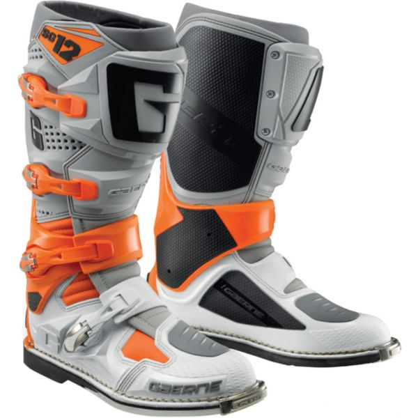 Cizme MX-Enduro Gaerne Cizme Moto Enduro SG12 Orange/Grey/White 2021