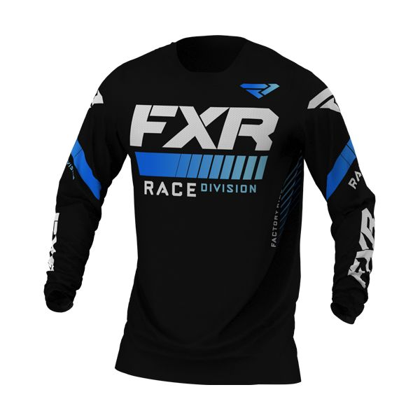 Tricouri MX-Enduro FXR Tricou MX Revo Black/Blue 2021