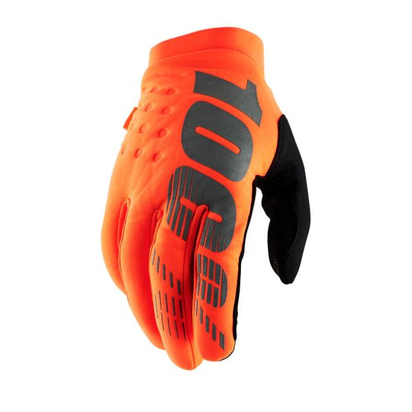 Manusi MX-Enduro 100 la suta Manusi Brisker Orange/Black 2019