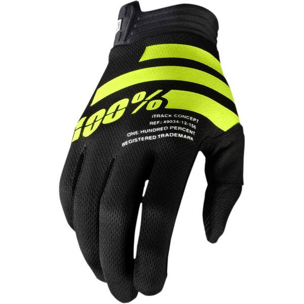 Manusi MX-Enduro 100 la suta Manusi Itrack Black/Fluo Yellow 2020