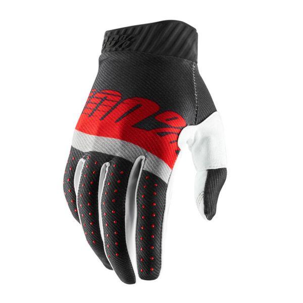 Manusi MX-Enduro 100 la suta Manusi Ridefit Black/Red 2019