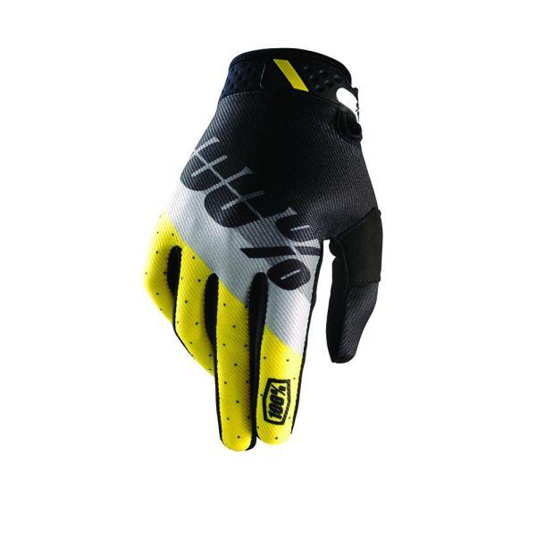 Manusi MX-Enduro 100 la suta LICHIDARE STOC Manusi Ridefit Yellow/Gray/Black