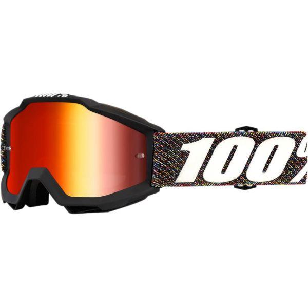 Ochelari Cross Enduro Copii 100 la suta Ochelari Accuri Krick Mirror Red Lens Copii