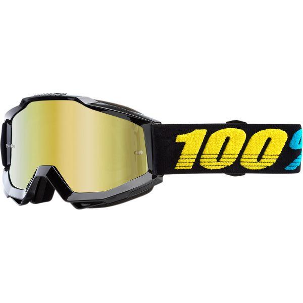 Ochelari Cross Enduro Copii 100 la suta Ochelari Accuri Virgo Mirror Gold Lens Junior