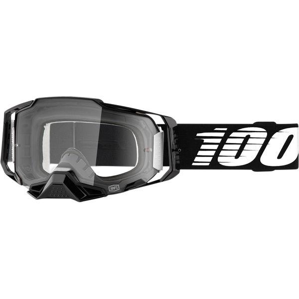 Ochelari MX-Enduro 100 la suta Ochelari MX  Armega Black Clear Lens