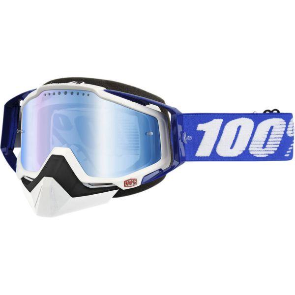 100 la suta Ochelari Racecraft Snow BL/MIR BL
