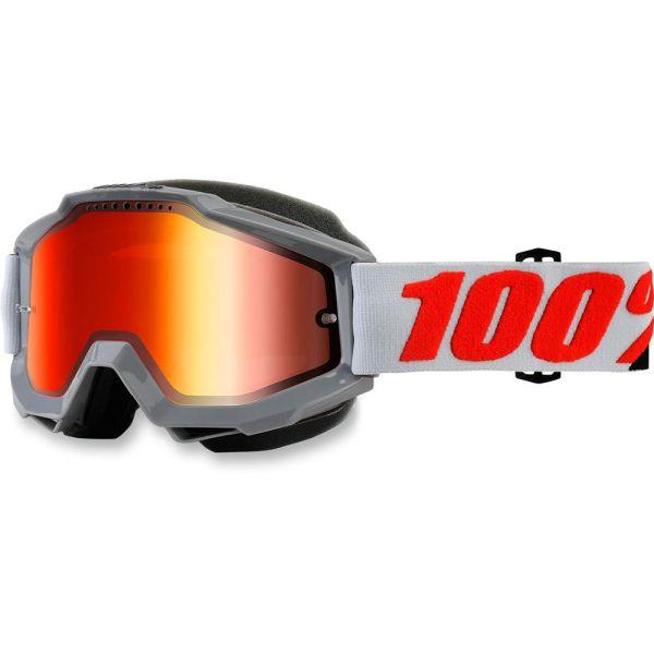 100 la suta OCHELARI GRAY SNOW ACCURI W/ MIRROR RED LENS