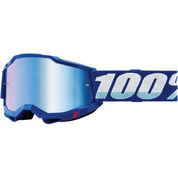 Ochelari MX-Enduro 100 la suta Ochelari MX  Accuri 2 Blue Mirror Lens