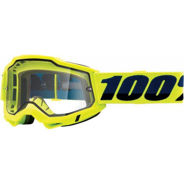 Ochelari MX-Enduro 100 la suta Ochelari MX  Accuri 2 Fluo Yellow Clear Lens