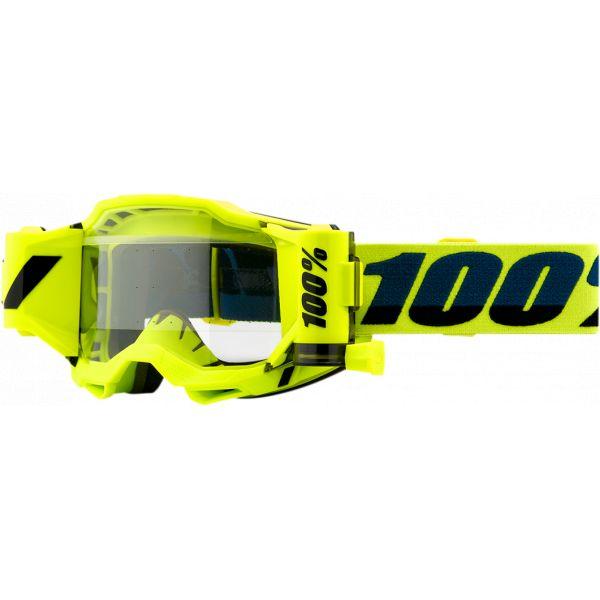 Ochelari MX-Enduro 100 la suta Ochelari MX  Accuri 2 Forecast Fluo Yellow Clear Lens