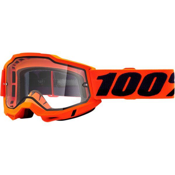 Ochelari MX-Enduro 100 la suta Ochelari MX  Accuri 2 Orange Clear Lens