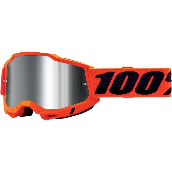 Ochelari MX-Enduro 100 la suta Ochelari MX  Accuri 2 Orange Mirror Silver Lens