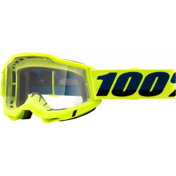 Ochelari MX-Enduro 100 la suta Ochelari MX  Accuri 2 OTG Fluo Yellow Clear Lens