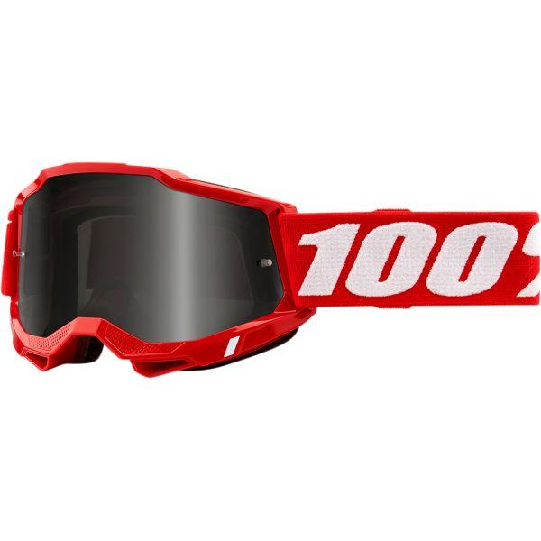 Ochelari MX-Enduro 100 la suta Ochelari MX  Accuri 2 Sand Red Smoke Lens