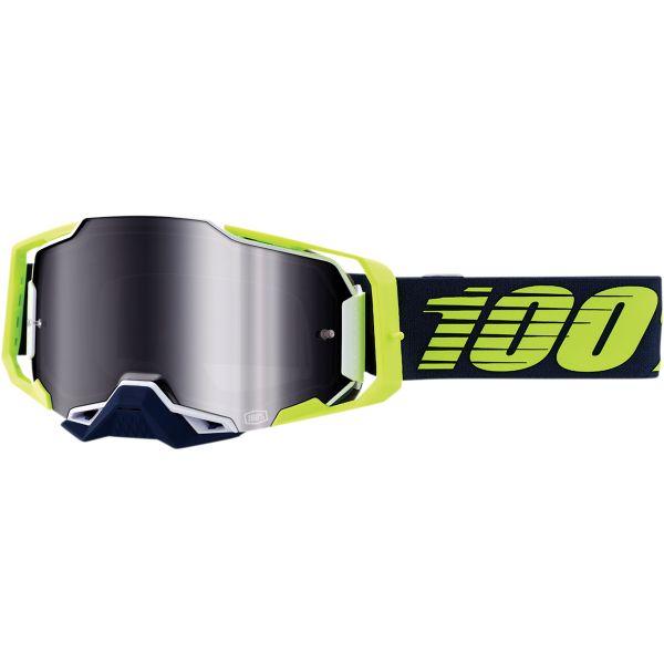 Ochelari MX-Enduro 100 la suta Ochelari MX  Armega Deker Mirror Silver Lens