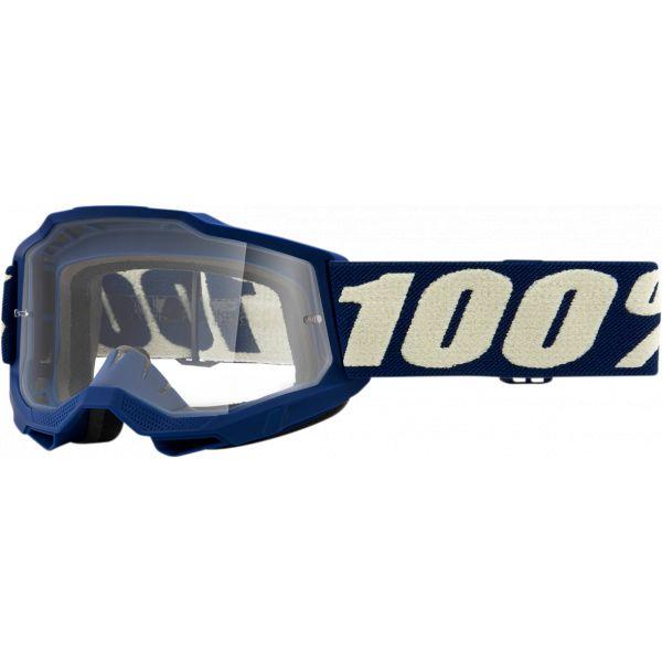 Ochelari MX-Enduro Copii 100 la suta Ochelari MX Copii Accuri 2 Deep Marine Clear Lens