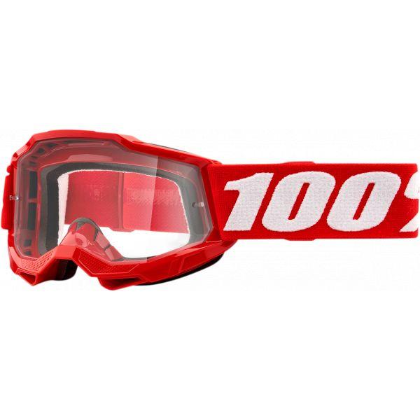 Ochelari MX-Enduro Copii 100 la suta Ochelari MX Copii Accuri 2 Red Clear Lens