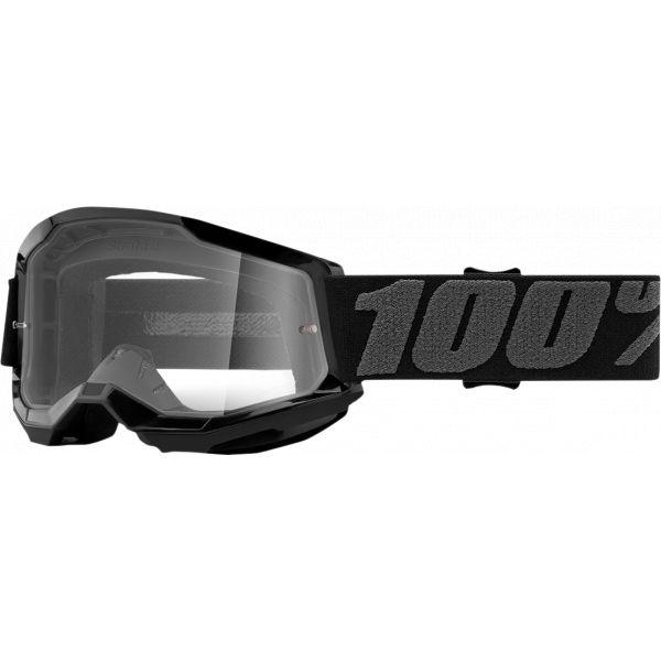 Ochelari MX-Enduro Copii 100 la suta Ochelari MX Copii Strata 2 Black Clear Lens