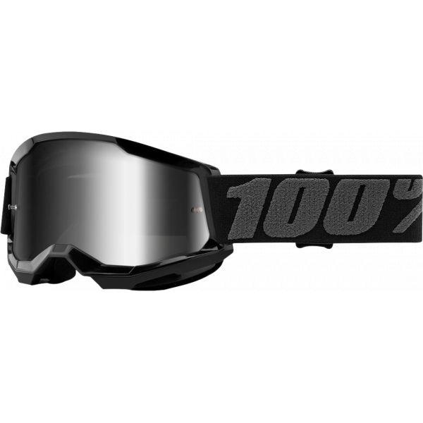 Ochelari MX-Enduro Copii 100 la suta Ochelari MX Copii Strata 2 Black Mirror Silver Lens