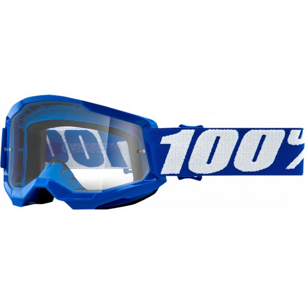 Ochelari MX-Enduro Copii 100 la suta Ochelari MX Copii Strata 2 Blue Clear Lens