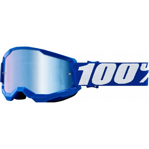 Ochelari MX-Enduro Copii 100 la suta Ochelari MX Copii Strata 2 Blue Mirror Lens
