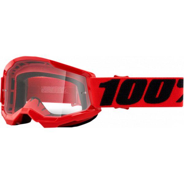 Ochelari MX-Enduro Copii 100 la suta Ochelari MX Copii Strata 2 Red Clear Lens
