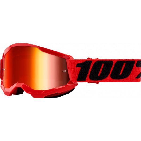 Ochelari MX-Enduro Copii 100 la suta Ochelari MX Copii Strata 2 Red Mirror Lens