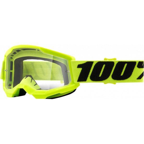 Ochelari MX-Enduro Copii 100 la suta Ochelari MX Copii Strata 2 Yellow Clear Lens