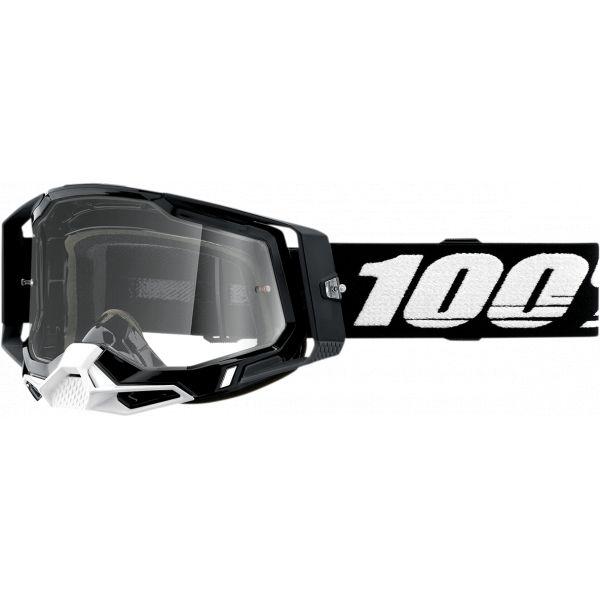 Ochelari MX-Enduro 100 la suta Ochelari MX  Racecraft 2 Black Clear Lens