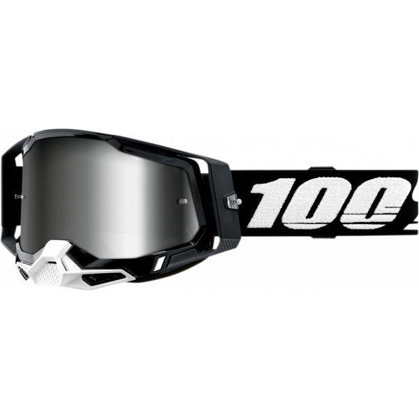 Ochelari MX-Enduro 100 la suta Ochelari MX  Racecraft 2 Black Mirror Silver Lens
