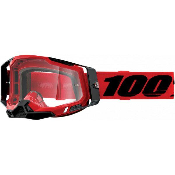 Ochelari MX-Enduro 100 la suta Ochelari MX  Racecraft 2 Red Clear Lens