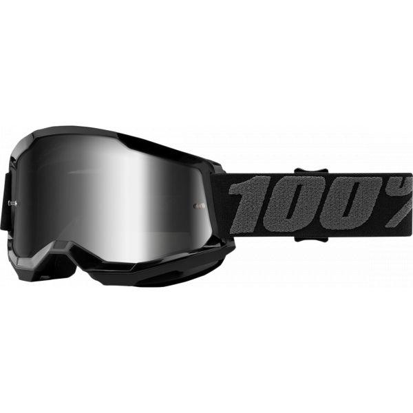 Ochelari MX-Enduro 100 la suta Ochelari MX  Strata 2 Black Mirror Silver