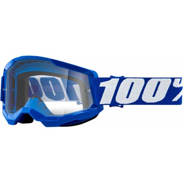 Ochelari MX-Enduro 100 la suta Ochelari MX  Strata 2 Blue Clear Lens