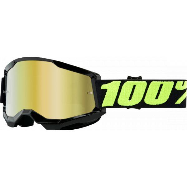 Ochelari MX-Enduro 100 la suta Ochelari MX  Strata 2 Upsol Mirror Gold Lens