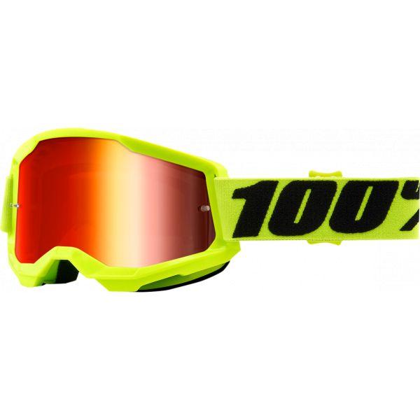 Ochelari MX-Enduro 100 la suta Ochelari MX  Strata 2 Yellow Mirror Lens