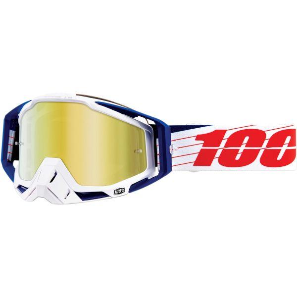 Ochelari MX-Enduro 100 la suta Ochelari Racecraft BIBL/WH GL MIR