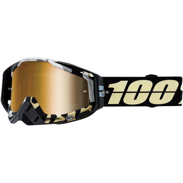 Ochelari MX-Enduro 100 la suta Ochelari Racecraft Ergoflash Mirror True Gold Lens