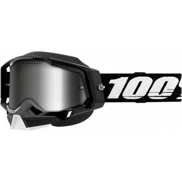 Ochelari Snowmobil 100 la suta Ochelari Snow Racecraft 2 Black Mirror Silver Lens