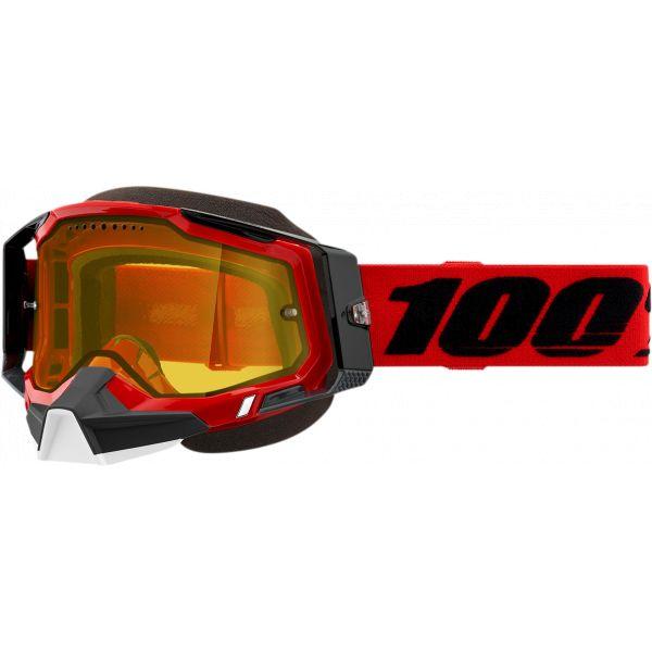 Ochelari Snowmobil 100 la suta Ochelari Snow Racecraft 2 Red