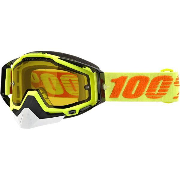 Ochelari Snowmobil 100 la suta Ochelari Racecraft Snow YLW CLR
