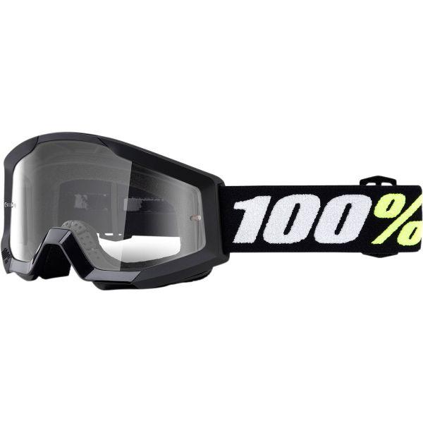 Ochelari MX-Enduro Copii 100 la suta Ochelari MX Copii Strata Mini Grom Black Clear Lens