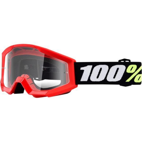 Ochelari MX-Enduro Copii 100 la suta Ochelari MX Copii Strata Mini Grom Red Clear Lens