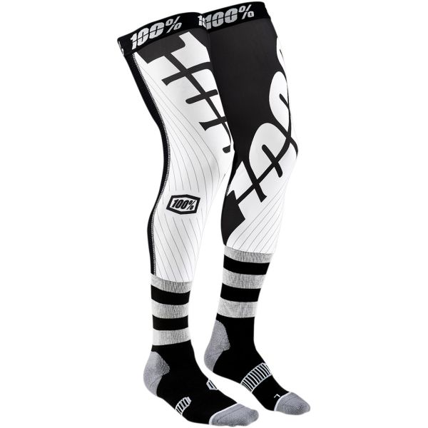 Sosete MX-Enduro 100 la suta Sosete Knee Brace Rev Black/White 2020
