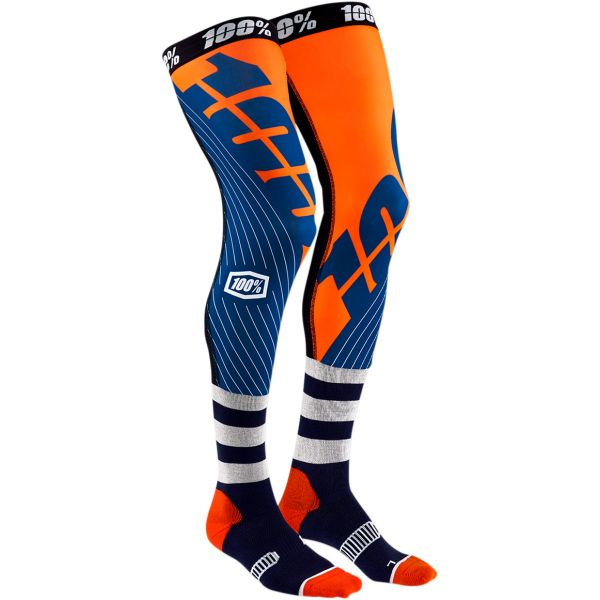Sosete MX-Enduro 100 la suta Sosete Knee Brace Rev Navy/Orange 2020