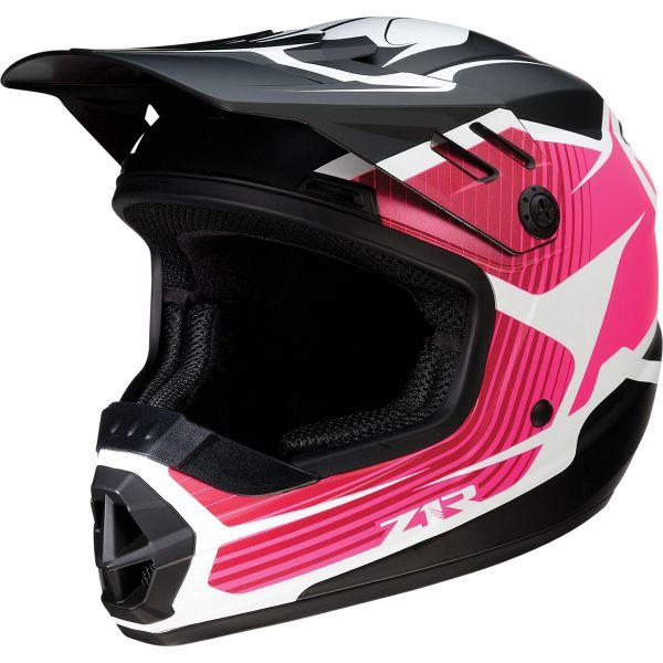 Casti MX-Enduro Copii Z1R Casca Moto MX Copii Rise Flame Pink 2022