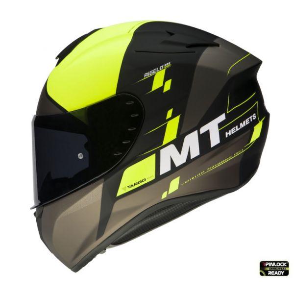 Casti Moto Integrale MT Helmets Casca Moto Integrala Targo Rigel A3 Yellow Fluor Matt 2021