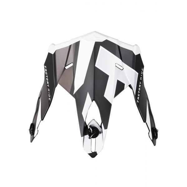 Accesorii Casti Enduro FXR Cozoroc Casca Blade Force 20-Black/White