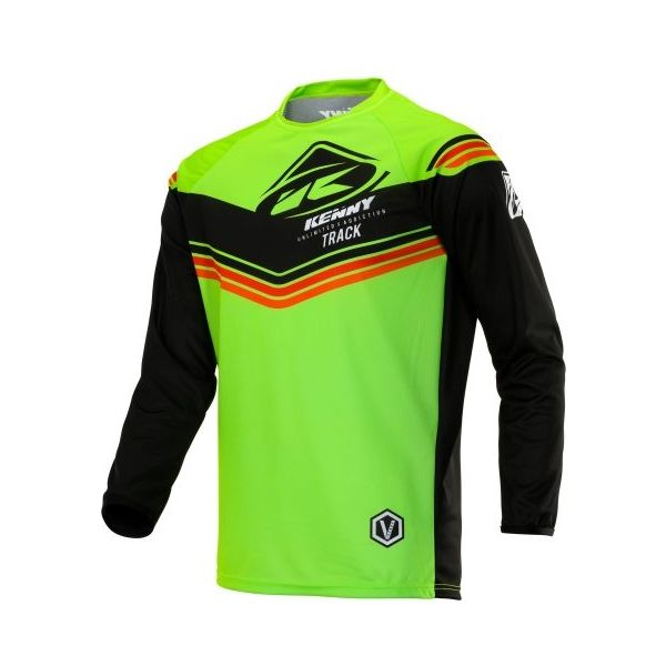 Tricouri MX-Enduro Kenny Tricou MX S20 Track Victory Lime/Black